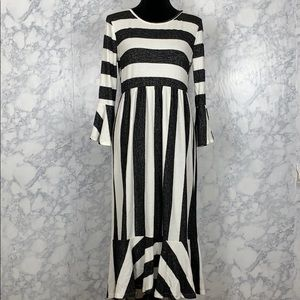 BUTTER SOFT Striped Midi Dress